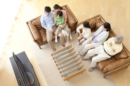gezinnen tv kijken