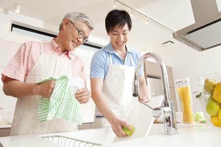 親と子の洗濯物に