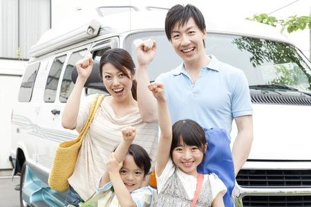 Parent and child's smile Standard-Bild