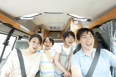 drives: Parent driving with their children