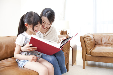 Mother and child to be reading
