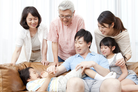 living being: Of large families smile