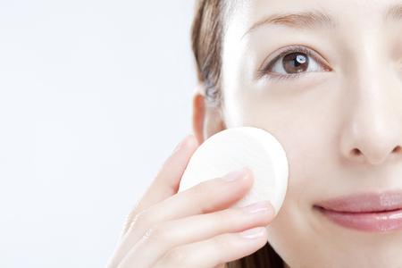 Base makeup woman