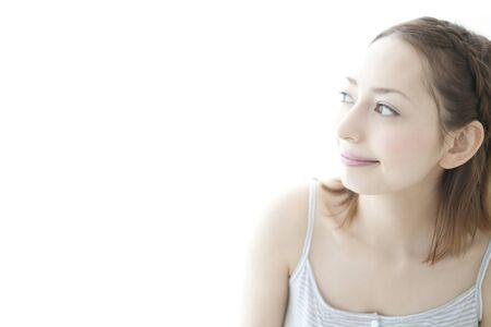 seres vivos: Sonriente mujer