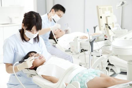 Medical landscape of dental clinic Stock Photo
