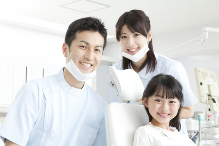 Smile dentist and girls