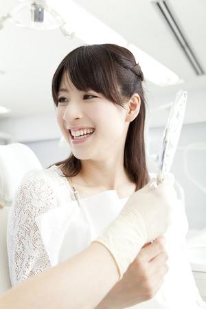 Women who undergo dental treatment Stock Photo