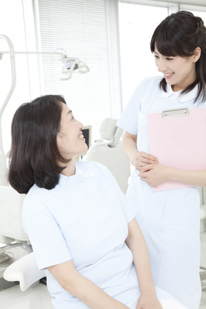 dental hygienist: I chatted to the dentist and dental hygienist
