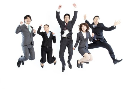 jumping businessman: Jumping businessman and OL