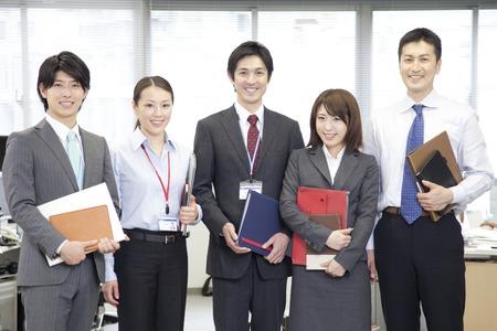 japonais: Sourire d'affaires avec l'OL