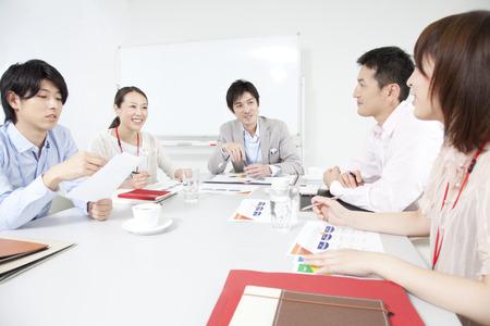 Lors d'une réunion d'hommes d'affaires et OL