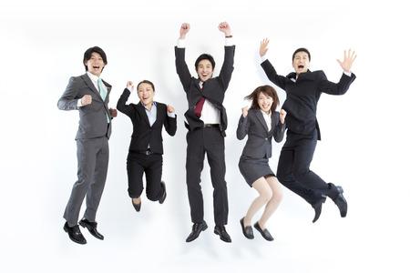 Businessman who jump