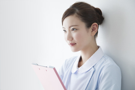 Nurses with medical records