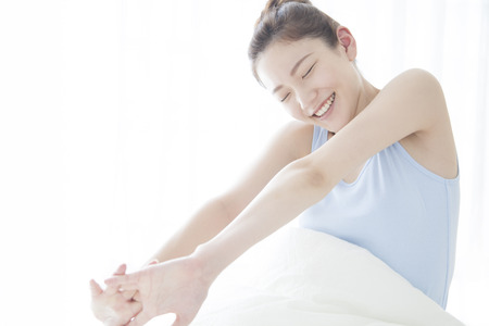 pliable: women who wake up Stock Photo