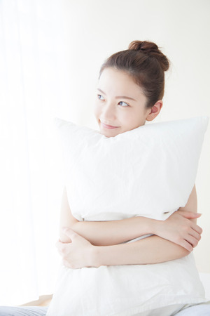 Women Embracing the pillow