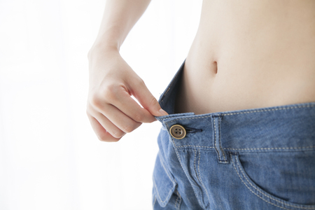 Successful dieting women photo