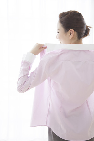Women dressed in shirts photo