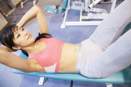 Women to exercise abdominal muscles