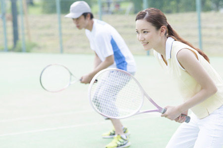 Men and women to play tennis.