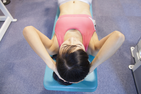 asian abs: Women to exercise abdominal muscles