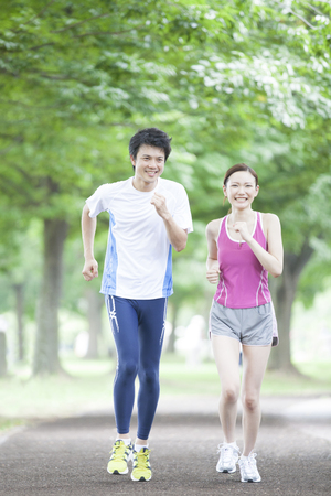 Men and women to be jogging