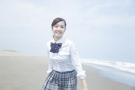 frolic: High school girl Frolic at the beach