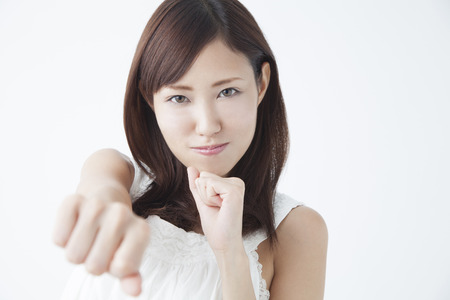 Woman to punch angry