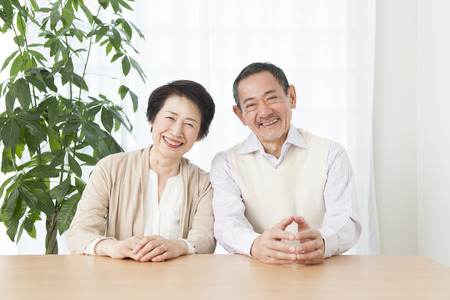 Smile senior couple Stock Photo
