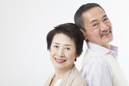 asian old man: Smiling senior couple Stock Photo