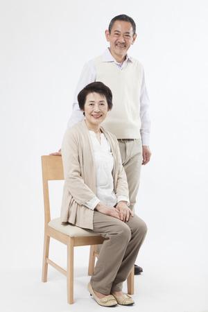 an elderly person: Sonriente pareja de ancianos