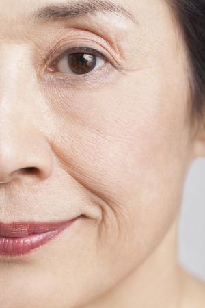 Face of senior woman