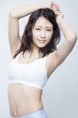 japanese woman: Woman smiling