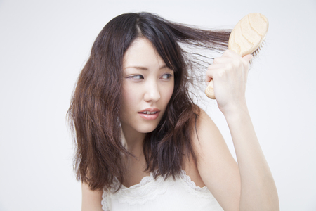 damaged: Woman that damaged the hair