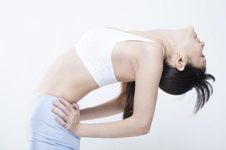 pliable: Women divert the upper body