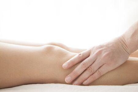healing with sound: Women foot massages