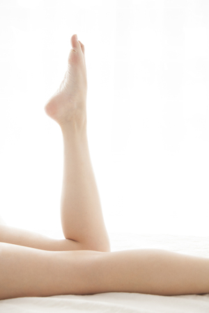 woman foot: Women legs Stock Photo