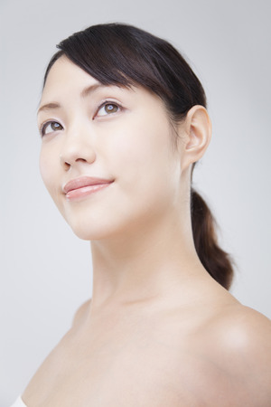 relax massage: Woman smiling