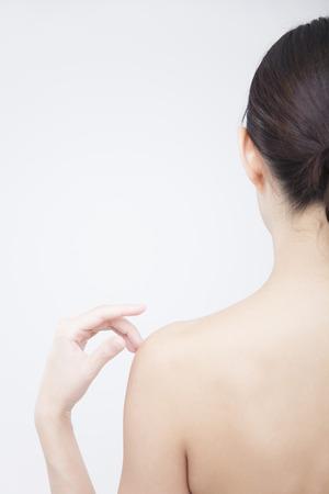 Women Hands to shoulder