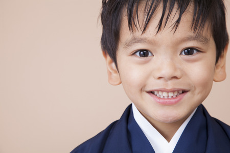 Boy smiling in his hakama