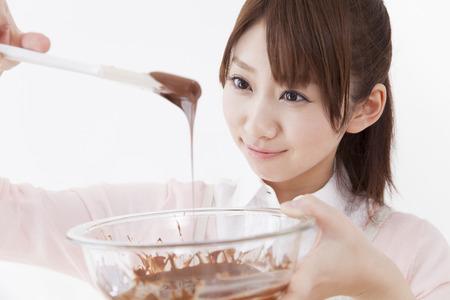 Melt the chocolate Lady Standard-Bild