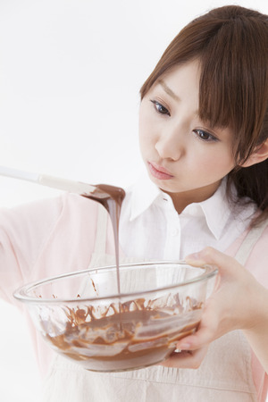 Melt the chocolate Lady Stock fotó