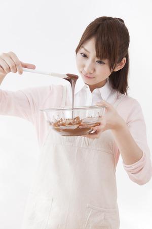 초콜릿 레이디를 녹여 라.