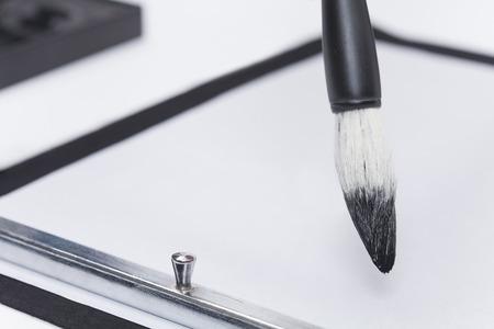 Brush and rice paper
