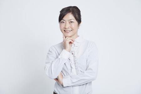 ビジネスの女性の笑顔 写真素材