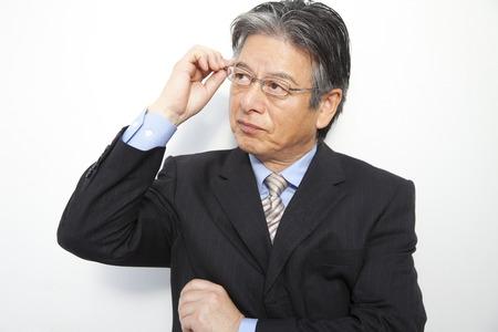 businessman suit: Businessman to raise the glasses Stock Photo