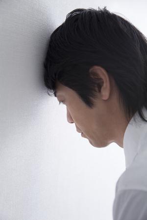 anguish: Depressed businessman
