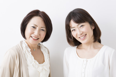 Smiling middle women