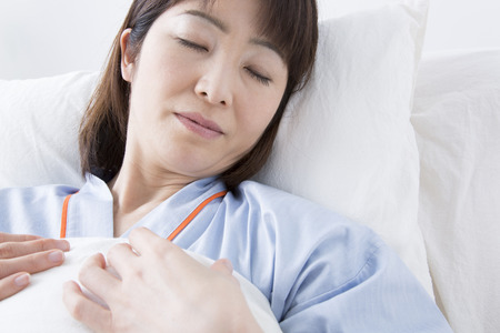 hospitalized: Patients sleep in bed Stock Photo