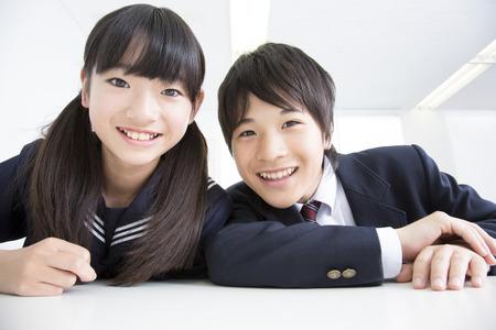 Smile of junior high school students