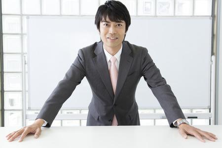 Lecturer standing in platform